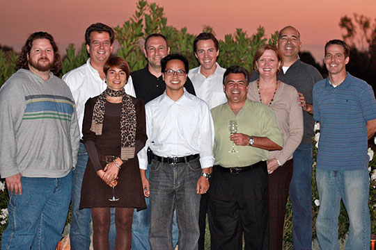 <p>The givezooks! team, from left, includes James Moline, Chris Giles, Joelle Benvenuto, Joe Fazio, Steve Wong, Justin Michael, John Evangelista, Carol Schrader, Eric Schrader and Dave Parsin. (givezooks! photo)</p>
