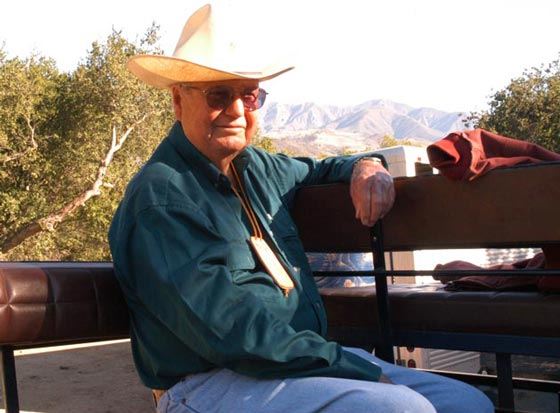 A true cowboy at heart, Bob Kallman was a member of the Ranchero Vistadores riding group and Los Rancheros Pobres. (Don Barthelmess photo)