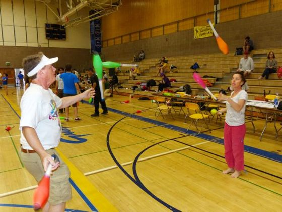 <p>Throughout the 38th Annual Isla Vista Juggling Festival, Robertson Gym at UC Santa Barbara, was crowded with juggling fans, fanatics and even the just curious.</p>
