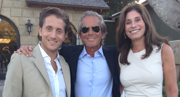 Madeleine Jacobson with her husband, Peter, and nephew Michael Toccin at the Foundation for Santa Barbara City College benefit hosted by Julianne in Montecito's Upper Village. (Judy Foreman / Noozhawk photo)
