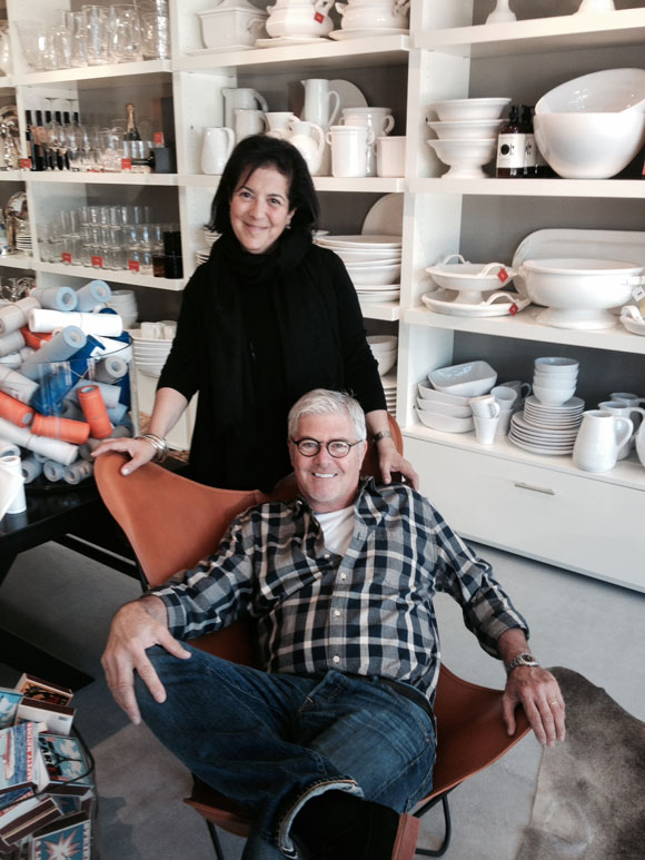 Partners Monelle Totah and Gary McNatton own Hudson Grace, a Coast Village Road lifestyle store offering well-curated items for home entertaining.