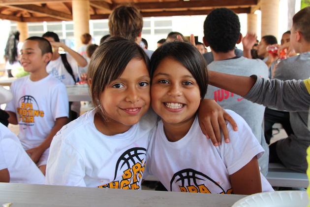 Camila Jeronimo, 8, and Fatima Barron, 10, from the Santa Barbara West Club were all smiles at a luncheon to conclude the three-day camp.
