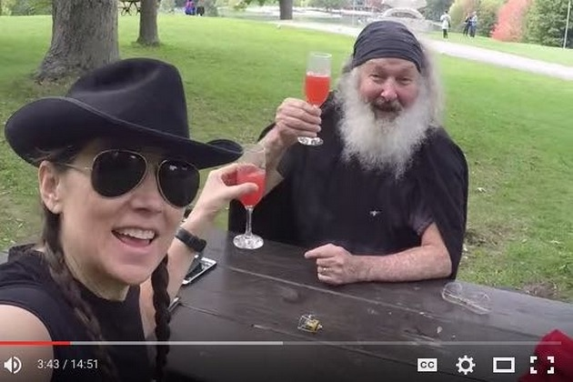 "Several days before Evi and Randy Quaid were detained at a Vermont border crossing, Evi Quaid uploaded a rambling, profanity-laced YouTube video that includes denunciations of the U.S. and Canadian governments, the State Department and the ""entirely corrupt County of Santa Barbara."""