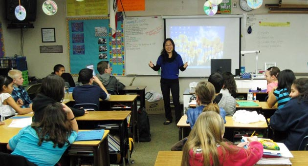 <p>Instructor Xiaoyan Orozco has begun teaching Orcutt Academy K-8 students Chinese culture, music and language during an enrichment class offered each Friday.</p>