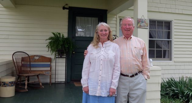 "<p>Jo and Bill Grove will have owned their 20-acre Los Olivos property, which includes this 1889 farmhouse, for 17 years this August. ""When we bought this, I always loved this house,"" Jo Grove says. ""It's cute. I always wanted to live here.""</p>"