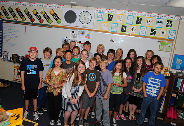 Jackie Bluestein and her sixth-grade class at Washington School participated in the Mental Health Matters program through which they learned about depression, eating disorders, schizophrenia and other conditions — and how to interact with those who may have them.