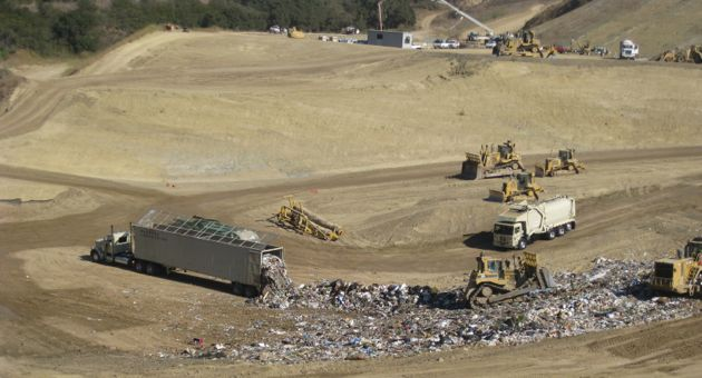 At its current rate of receivables, the Tajiguas landfill west of Goleta will reach capacity in 2026. (Lara Cooper / Noozhawk photo)