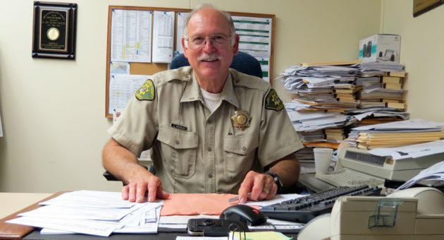 Santa Barbara County sheriff's Lt. Ugo 'Butch' Arnoldi is entering his record 41st year with the department, with no immediate plans to retire. 'You lead by example,' he says. 'If you're going to be in that station, you're going to work hard.' (Gina Potthoff / Noozhawk photo)