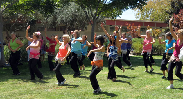 Dancers enrolled in classes at SBCC showed off what they've learned during a demonstration Saturday. (Gina Potthoff / Noozhawk photo)
