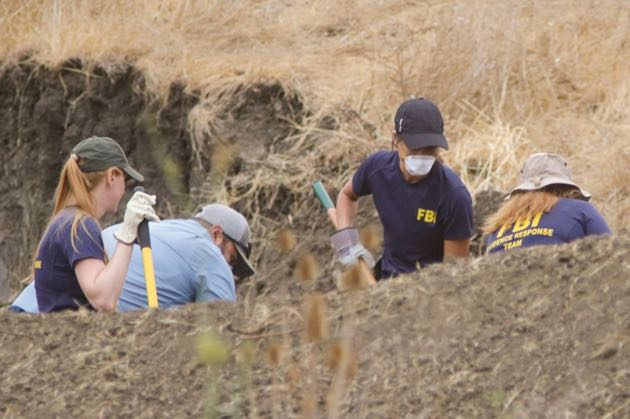 Dozens of law enforcement personnel have been digging deep into the Kristin Smart case on the campus of Cal Poly San Luis Obispo. Authorities believe 'items of interest' have been unearthed in the renewed investigation. (David Middlecamp / San Luis Obispo Tribune photo)
