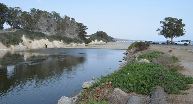 <p>The mouth of the Goleta Slough has been silted over for nearly a year, leading to problems related to waterfowl and mosquitoes.</p>
