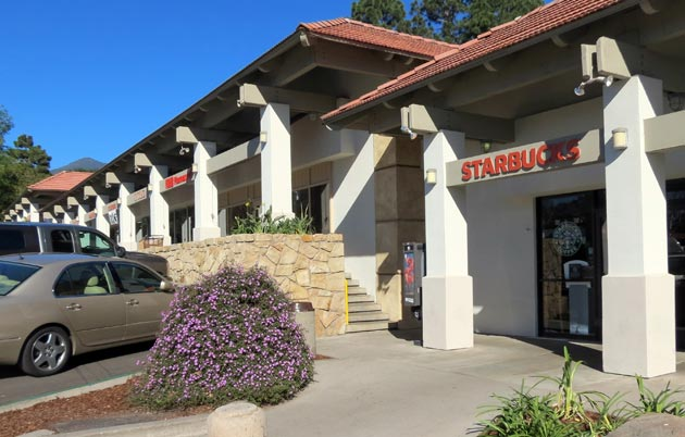 The 13,791-square-foot retail center at 1046 Coast Village Road in Montecito was sold for $10.2 million during the fourth quarter of 2012, according to Pacifica Commerical Realty. The sale was one of 31 completed during the record sale quarter on Santa Barbara County's South Coast. (Gina Potthoff / Noozhawk photo)