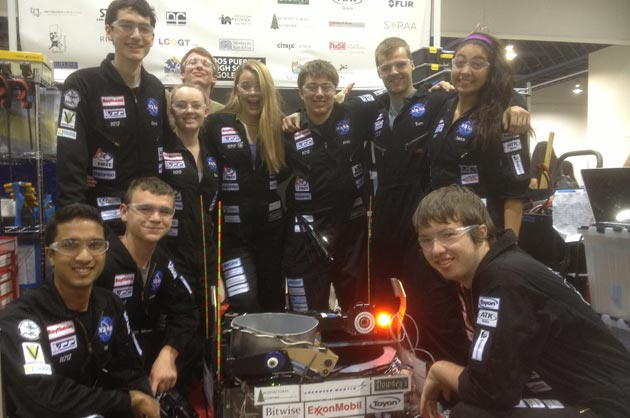 The victorious D'Penguineers will be competing in the FIRST Robotics World Championships beginning April 24 in St. Louis.