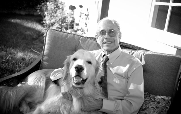 Dr. Joe Blum, relaxing at home with his dog, Cody, has worked with Veterans Affairs patients for nearly 30 years and acknowledges the frustrations that come with the high-volume job. 'Most of us have social situations like playing sports or other activities, but some veterans' only social situation is the clinic,' he says. 'I'm working with veterans who sacrificed for country; it's more challenging but also more rewarding.'