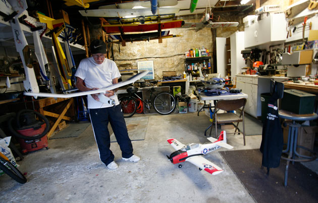 The wingspan of a model airplane may be bigger than you think.
