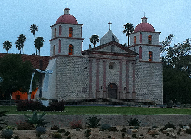 Parishioners arriving for the Easter Sunday sunrise service at the Santa Barbara Mission found the church's facade defaced by graffiti vandalism.
