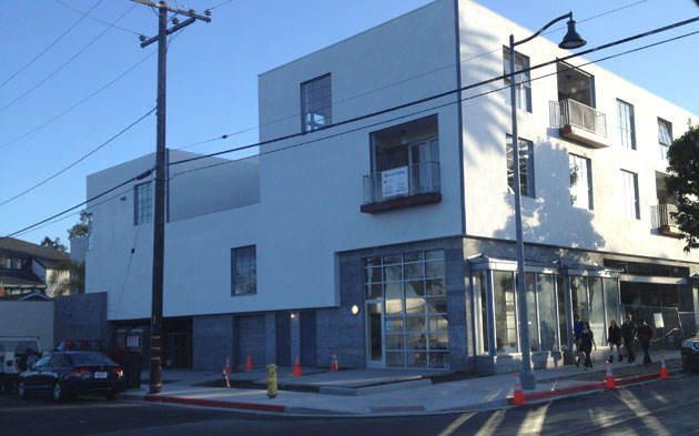 A new four-level mixed-use building is nearing completion at 116 E. Yanonali St. in Santa Barbara's Funk Zone.