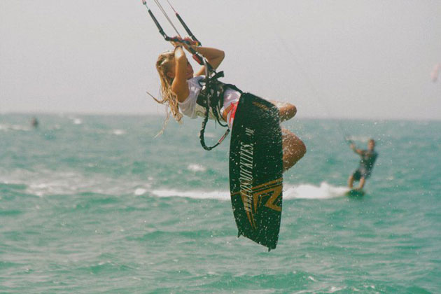 <p>Maika Monroe, catching some air while kiteboarding in the Dominican Republic, has hopes of competing in the 2016 Olympics in Rio de Janeiro if proponents can get kiteboarding accepted as an Olympic sport.</p>