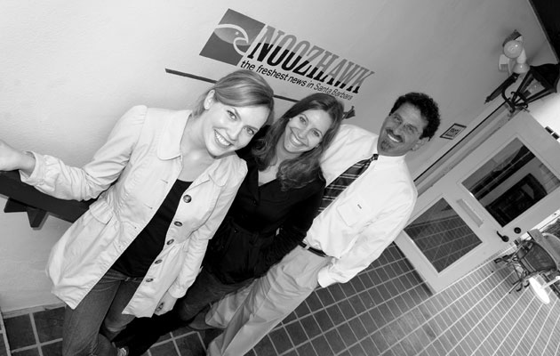 <p>Noozhawks Lara Cooper, left, Giana Magnoli and Bill Macfadyen led the company&#8217;s Prescription for Abuse series, a California Endowment Health Journalism Fellowship project through USC&#8217;s Annenberg School for Communication &amp; Journalism.</p>