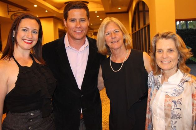 From left, Cooking Up Dreams co-chairwoman Meredith Garofalo, emcee Andrew Firestone, co-chairwoman Marni Cooney and Family Service Agency executive director Lisa Brabo.