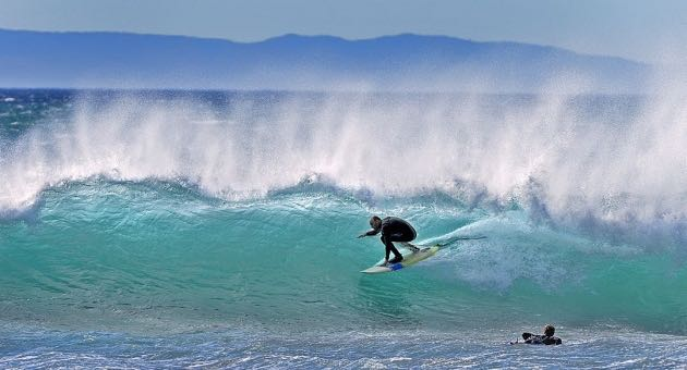 With spectacular conditions, scores of surfers were on board at the 2015 Rincon Classic. (Mike Eliason / Noozhawk photo)