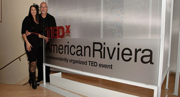 Mark Sylvester and Kymberlee Weil are organizers of the 2012 TEDx American Riviera, which gets under way Sunday at Bacara Resort & Spa. (Carolyn Newstrom photo)