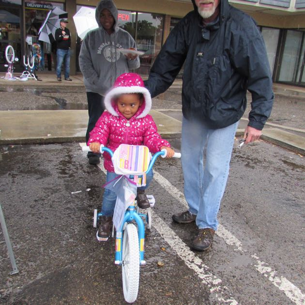 Nyah Ingram is ready to ride — rain or shine.