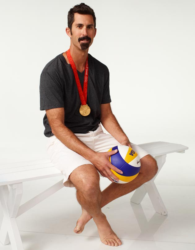 Todd Rogers won a gold medal in beach volleyball with teammate Phil Dalhausser in the 2008 Beijing Olympics, and the dynamic duo is aiming to win another in London. 'When we're playing our best, I just don't think there's a team that can beat us,' he says. (Mitchell Haaseth photo / NBC Olympics)