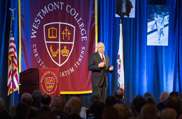<p>At Friday&#8217;s Westmont President&#8217;s Breakfast, retired Gen. Colin Powell emphasized that successful leadership is part of something larger. &#8220;Leaders can&#8217;t accomplish anything without inspiring followers,&#8221; he said.</p>
