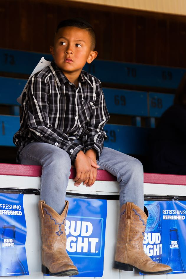 Noozhawk's rider, 6-year-old Aaden Bell of Goleta, didn't win Sunday, but he's got the cowboy nonchalance going for him.