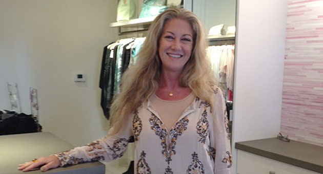 "Wendy Figueiredo manages Calypso St. Barth in the Montecito Country Mart. Rather than market trends, she says, Calypso's ""collections are inspired by destinations and beautiful color palettes."""