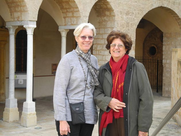 Anabel Ford with Leila Badre, director of the American University of Beirut's Archaeology Museum.