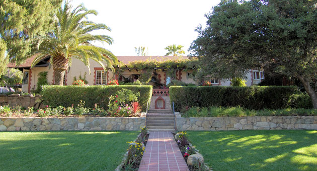 Alexander Gardens retirement home near the Santa Barbara Mission will return to local ownership this week when 13 investors finalize their purchase of the beautiful facility at 2120 Santa Barbara St. (Alexander Gardens photo)