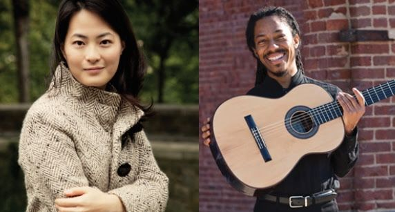 <p>Violinist Hye-Jin Kim, left, and guitarist-composer João Luiz will be performing in the Chamber on the Mountain concert at 3 p.m. Sunday in Upper Ojai.</p>