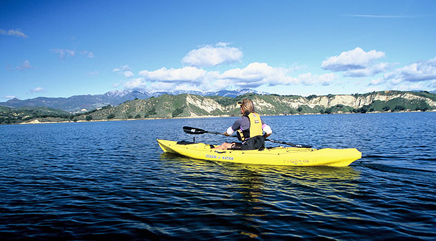 While paddling about Lake Cachuma, kayakers and canoeists will likely come across a number of the reservoir's more than 150 recorded bird species.