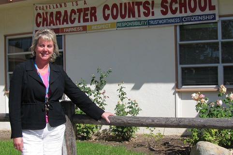 Cynthia White has been principal at the year-round Cleveland School since 2012. (Giana Magnoli / Noozhawk file photo