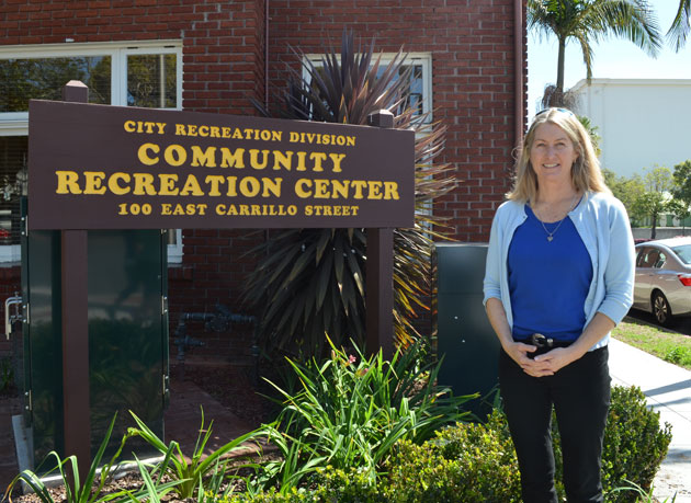 After 15 years of service at the City of Santa Barbara Parks & Recreation Department, youth activities supervisor Terry Brown is 'grateful for the opportunity' to work in a community that is especially generous when it comes to youth activities. (Frankie Victoria / Noozhawk photo)