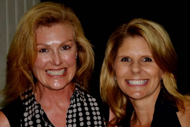 Outgoing NCL president Amy Mayfield, left, with incoming president Jeannie Burford. (National Charity League photo)