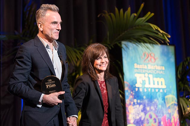 Daniel Day-Lewis with his co-star from 'Lincoln,' Sally Field.