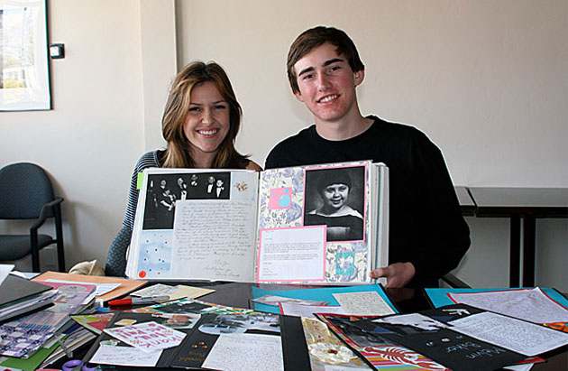 Siblings Darcy and Duffy Kerwin-McElroy are longtime volunteers at the Dream Foundation and find themselves returning again and again to the scrapbooking that is so important to preserving the legacy of the organization's dreamers. 'I'm touching and holding this letter from a dreamer,' says Darcy. 'It's right here in my hands and that's unbelievable. I'm touching a piece of their memory and their memory with Dream Foundation.'