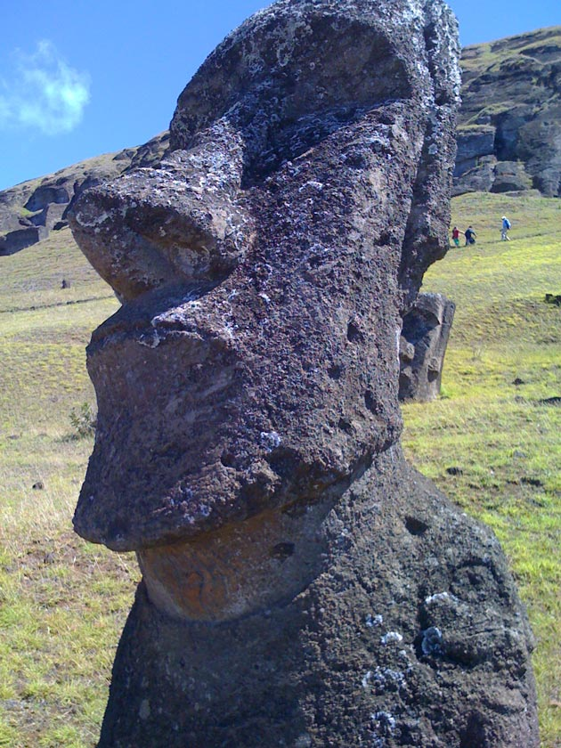 Easter Island's famed moai weigh up to 120 tons apiece. (McGinity family photo)
