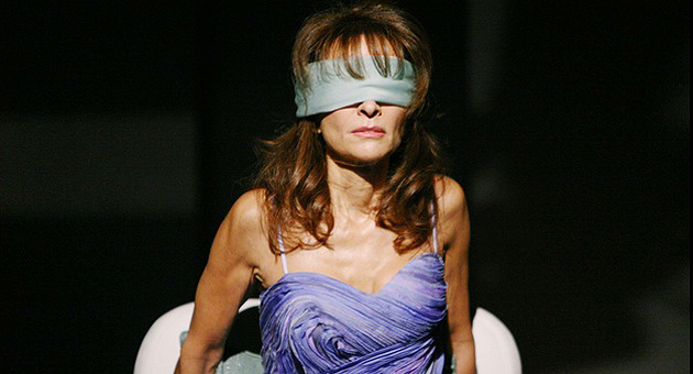 <p>Erica Kane of <i>All My Children</i> has always had a stylish attraction all her own, whether dressed to the nines or wearing ... what is that, a napkin blindfold?</p>