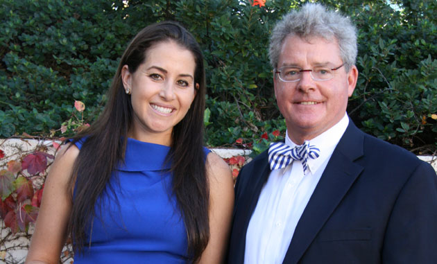 <p>Marymount of Santa Barbara alumna Katherine Marquart, with Head of School Andrew Wooden at last month&#8217;s Grandparents&#8217; Day. During the event, Marquart, an attorney with Gibson, Dunn &amp; Crutcher in Los Angeles, was honored with the school&#8217;s 2012 Distinguished Marymount Alumni Award.</p>