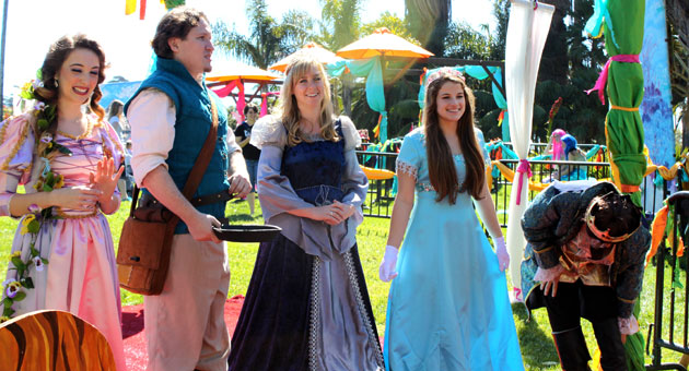 A colorful collection of movie and fairy tale characters greeted young guests visiting the Santa Barbara Zoo for the zoo's annual Princess Day to raise awareness about the need for amphibian conservation. (Allyson Werner / Noozhawk photo)