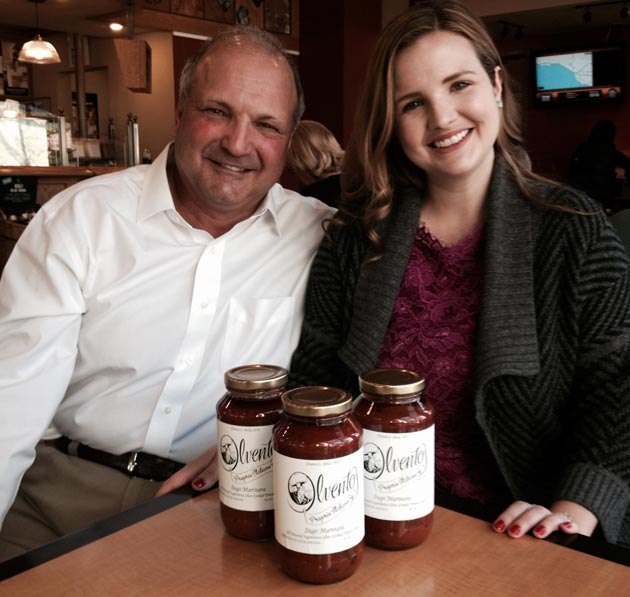 "<p>Dr. Joe Ilvento and his daughter, Juliana Fitzpatrick, are continuing a family tradition with their new line of handcrafted tomato sauces. ""These are family recipes and we use the finest ingredients available,"" Ilvento says.</p>"