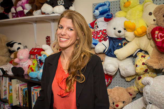 Lindsey Guerrero, executive director of Teddy Bear Cancer Foundation, has a clear view of her organization's mission. 'Even though there are a lot of accomplishments being made with the treatment for childhood cancer, the element that families still need is that financial/emotional support,' she says. 'That's where Teddy Bear fills the gap.' (Garrett Geyer / Noozhawk photo)