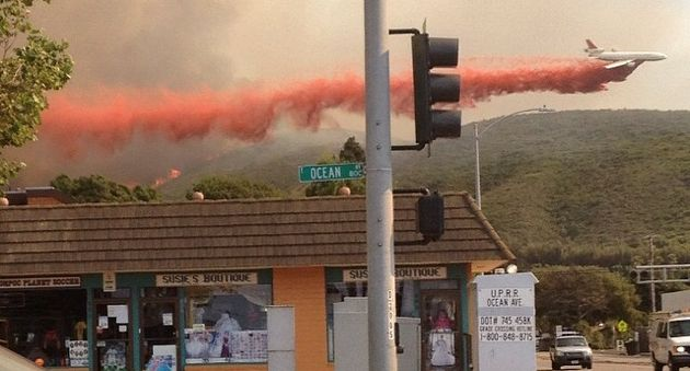 How close was the Miguelito Canyon Fire to Lompoc? That close. (Lee Knodel photo via Instagram)