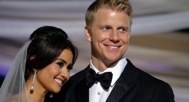 Catherine and Sean Lowe were married in a relatively quiet Montecito wedding ceremony. (Todd Wawrychuk photo / ABC)