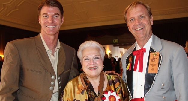 <p>From left, Music Academy of the West president Scott Reed, Honorary La Diva of Old Spanish Days Marilyn Horne and El Presidente 2014 Dennis Rickard.</p>