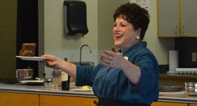 Mezzo-soprano Susan Nicely will sing the role of Julia Child in the Opera Santa Barbara production of Lee Hoiby's Bon Appétit!. (Opera Santa Barbara photo)